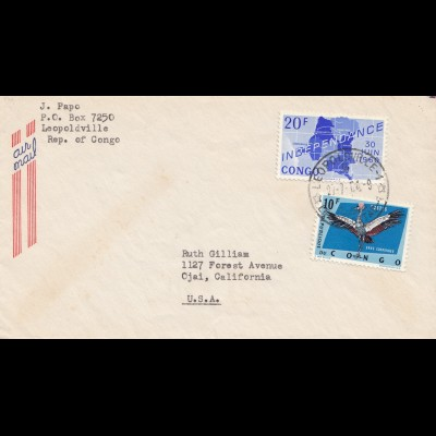 Belgisch-Kongo: 1964: Leopoldville nach USA
