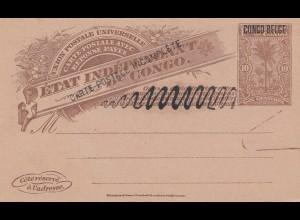 Belgisch-Kongo: Ganzsache Congo Belge: Carte postal incompete