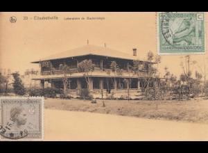 Belgisch-Kongo 1927: Ansichtskarte Elisabethville, Labor/Bakterien