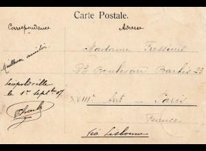 Belgisch-Kongo: 1907 Ansichtskarte Leopoldville