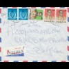 Belgisch-Kongo: Brief aus Kinshasa nach Belgien, Affe