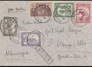 Belgisch-Kongo: 1935: Brief nach Deutschland