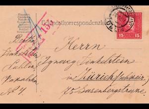 Bosnien: Lublin 1917 nach Zürich - Zensuriert