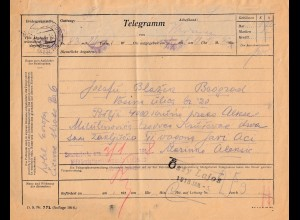 Bosnien: 1918: Telegramm Krusevac, Zensuriert