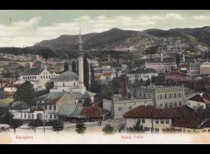 Bosnien: 1906: Ansichtskarte Sarajevo nach München