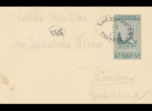 Bosnien: 1914: Travnik nach München