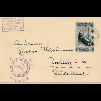 Bosnien: 1913: Sarajevo nach Rochlitz