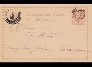 KuK Post Sarajevo 1893 - Ganzsache