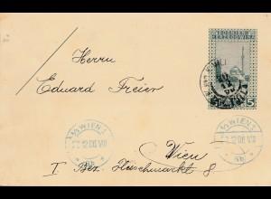 1906: KuK Post Bosnien nach Wien - Ganzsache