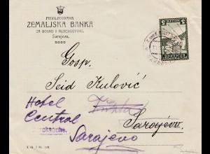 Militärpost: Eilmarke von Sarajevo - Drucksache