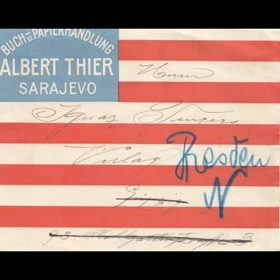 1907: Bosnien Sarajevo nach Leipzig - Dresden
