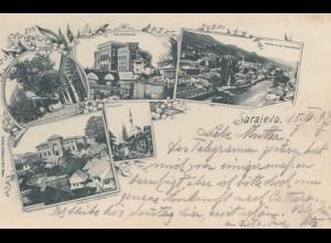 1897: Ansichtskarte Sarajevo nach Insbruck/Tirol