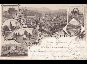 1896: Ansichtskarte Sarajevo nach Köln