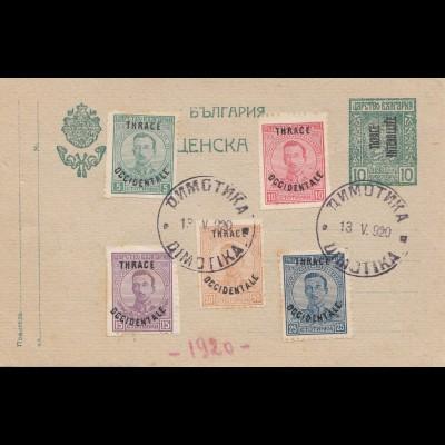Bulgarien 1920: Thrac/Occidentale