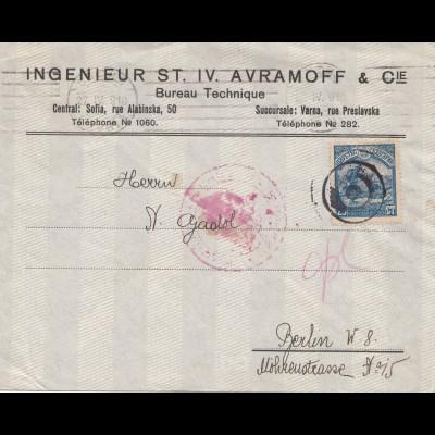 Bulgarien Brief von Sofia nach Berlin