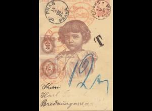 Bulgarien 1896: Ganzsache von Sophia nach Prag