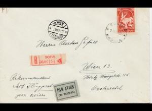 Bulgarien 1932: Brief von Sofia nach Wien