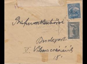 Bulgarien 1918: Brief nach Budapest/Ungarn