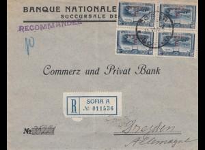 Bulgarien 1916: Brief von Sofia - Einschreiben - nach Dresden