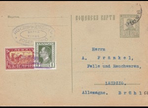 Bulgarien 1929: Ganzsache Varne nach Leipig _ Felle/Pelze
