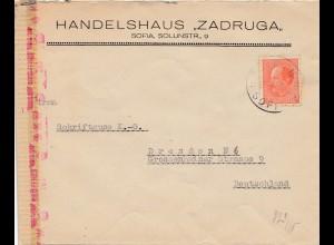 Bulgarien 1944: Brief von Sofia nach Dresden - OKW Zensur