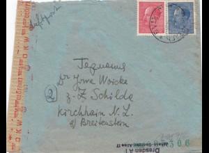 Bulgarien 1943: Brief von Sofia nach Kirchhain - OKW Zensur
