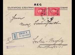 Bulgarien 1926: Einschreiben von Sofia nach Berlin