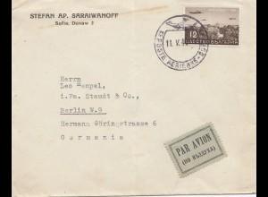 Bulgarien 1919: Luftpost von Sofia nach Berlin