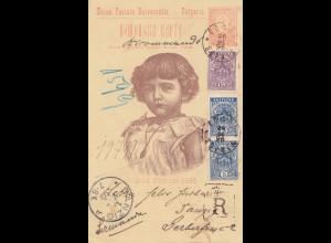 Bulgarien: 1896: Ganzsache Kind von Sophia nach Danzig