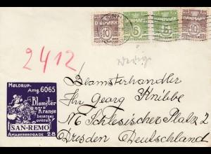 Dänemark: Brief aus Kopenhagen nach Dresden