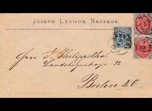 Dänemark: Brief von Nakskov nach Berlin