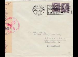 Dänemark: 1944: Kopenhagen nach Chemnitz - Zensur OKW