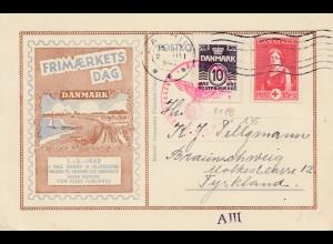 Dänemark: 1942: Kopenhagen nach Braunschweig - Zensur OKW