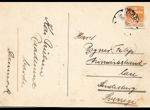 Dänemark: 1934: Postkarte nach Schweden