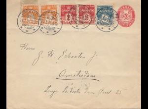 Dänemark: 1908: Brief von Rosskilde nach Amsterdam