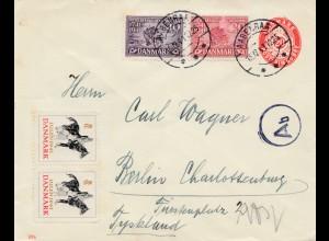 Dänemark: 1941: Aabenraa nach Berlin: Vignette Pferd. OKW Zensur