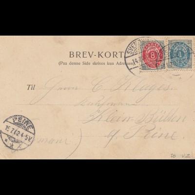 Dänemark: 1902: Ansichtskarte Hilsen