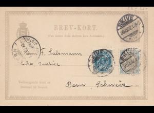 Dänemark: 1902:Ganzsache mit Antwort von Skive in die Schweiz/mit Blanko Antwort