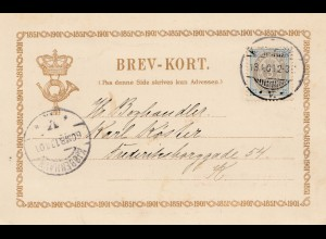 Dänemark: 1901: Postkarte Kopenhagen