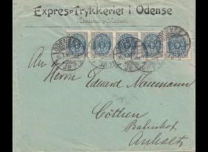 Dänemark: 1899: Brief aus Odense nach Deutschland
