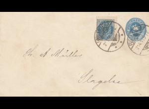 Dänemark: 1893: Ganzsache nach Slagelse
