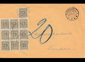 Dänemark: 1946: Brief von Hadsund, Nachporto