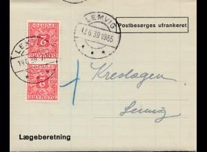 Dänemark: 1939: Lemvig: Laegeberetning
