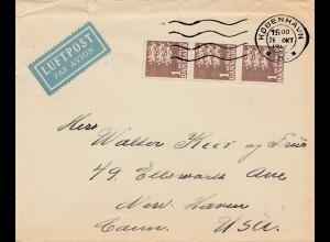 Dänemark: Luftpostbrief von Kopenhagen nach USA