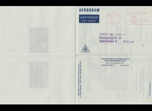 Dänemark: 1957: Aerogram/Luftpost Kopenhagen nach Amsterdam