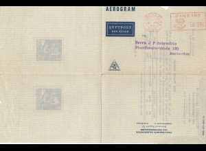 Dänemark: Aerogram/Luftpost 1951 Kopenhagen nach Amsterdam