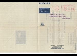 Dänemark: 1951: Aerogram/Luftpost Kopenhagen nach Amsterdam