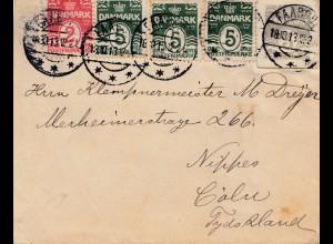 Dänemark: 1913: Brief nach Köln