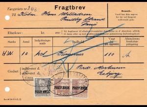 Dänemark: 1958: Fragtbrev