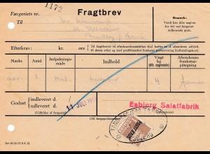 Dänemark: 1958: Fragtbrev Esbjerg Salatfabrik